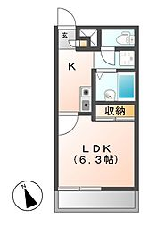 レオパレスフアモ[3階]の間取り