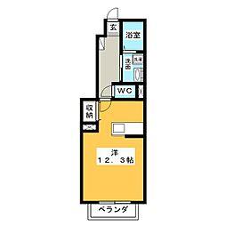サニーヴィラ[1階]の間取り