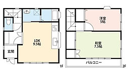 JUNエリールA・B[A201号室]の間取り