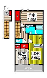 サングランドソレイユ[2階]の間取り