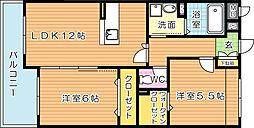 メゾンほおづきII[2階]の間取り