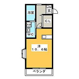 みやまマンション[1階]の間取り