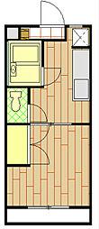 MANSION EVER GREEN(1DK)[1階]の間取り