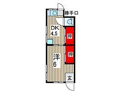 大成荘[1階]の間取り