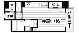 KDX堺筋本町レジデンス[3階]の間取り