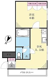 マンション雪ヶ谷[8階]の間取り