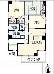 プリオールマキノII[2階]の間取り