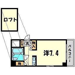キューブ北武庫之荘II[5階]の間取り