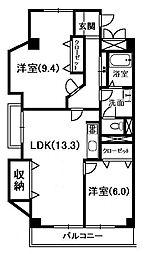 ロワイヤル八代[2階]の間取り