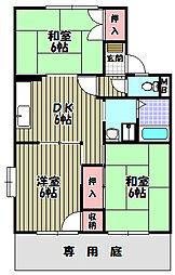 ファミリーハイツT・Y[1階]の間取り