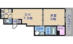 エステムコート心斎橋EASTIIIエクシード[5階]の間取り
