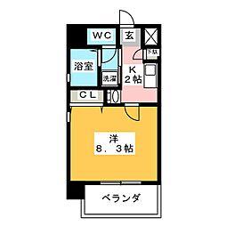 共同ハイツナゴノ[5階]の間取り