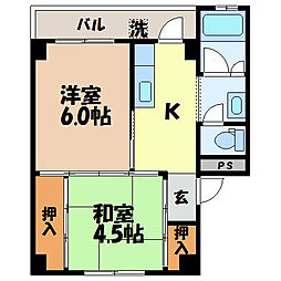 長崎県諫早市原口町の賃貸マンションの間取り