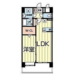 熊本電気鉄道 北熊本駅 徒歩5分の賃貸マンション 8階1LDKの間取り