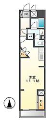 ロイジェント栄[6階]の間取り