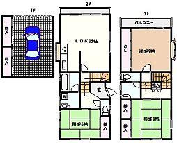 [一戸建] 兵庫県芦屋市岩園町 の賃貸【/】の間取り