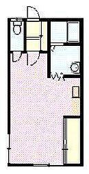 Firenze 2階ワンルームの間取り