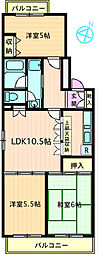 ラ・リヴィエーラ[3階]の間取り