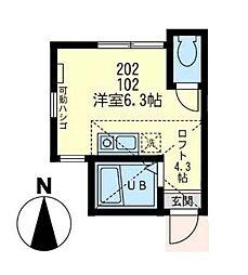 神奈川県川崎市川崎区大島5丁目の賃貸アパートの間取り