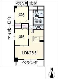 ペガサス34[4階]の間取り