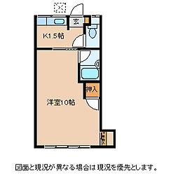 長野県諏訪市小和田の賃貸アパートの間取り