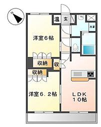 都筑区川向町 サンライフ・プラザ203号室[2階]の間取り
