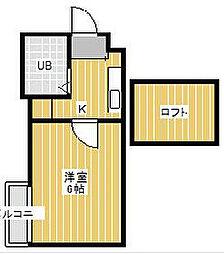ジュネパレス松戸第154[2階]の間取り