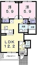アクシア[1階号室]の間取り