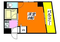 ベル・ジュネス 40K号室[4階]の間取り