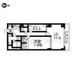 グランフォルム京都祇園203号[6階]の間取り