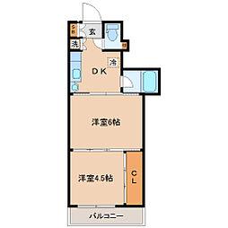シャングリラ大和町[7階]の間取り