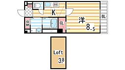 グラース・ジェルメ[2階]の間取り