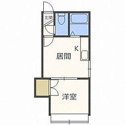 アーバンコート麻生VI[1階]の間取り
