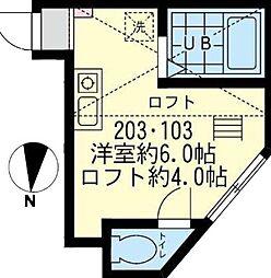 神奈川県川崎市幸区小倉5丁目の賃貸アパートの間取り