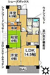 愛知県名古屋市千種区御棚町3丁目の賃貸マンションの間取り