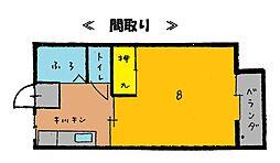 サンハイツA[105号室]の間取り