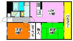 カサ・ルシェロ 603号室[6階]の間取り