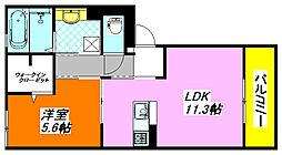 インペリアル・カーサB棟 105号室[1階]の間取り