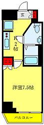 都営三田線 西巣鴨駅 徒歩10分の賃貸マンション 11階1Kの間取り