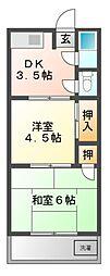 第一富士マンション[3階]の間取り