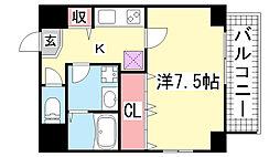 WELLBEAR新神戸[5階]の間取り