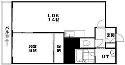 第18松井ビル[506号室]の間取り