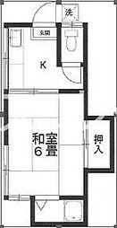 東京都杉並区下高井戸2の賃貸アパートの間取り