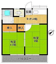 第二太田荘[203号室]の間取り