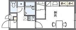 レオパレスY36[2階]の間取り