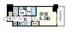 阪急神戸本線 中津駅 徒歩6分の賃貸マンション 9階1Kの間取り