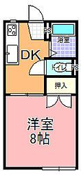 見川コーポ[102号室]の間取り