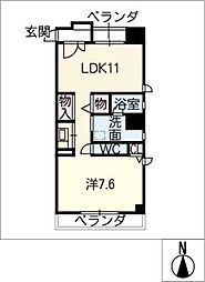 桜ヒルズ[9階]の間取り