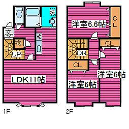 [テラスハウス] 北海道札幌市北区篠路五条9丁目 の賃貸【北海道 / 札幌市北区】の間取り