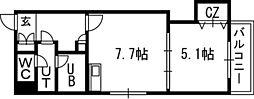 Vertical 18(バーティカル18)[00602号室]の間取り